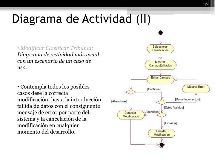 Diagrama de Actividad (II)