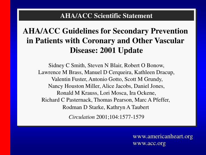 AHA/ACC Scientific Statement