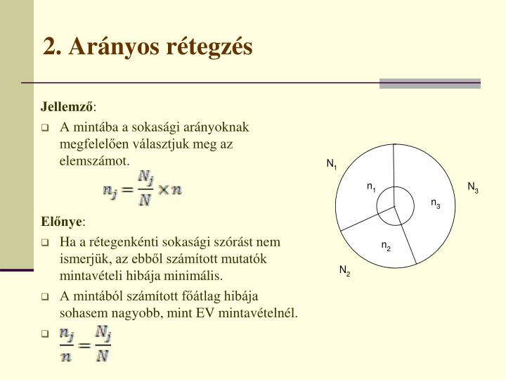 2. Arányos rétegzés