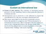 custom as international law1