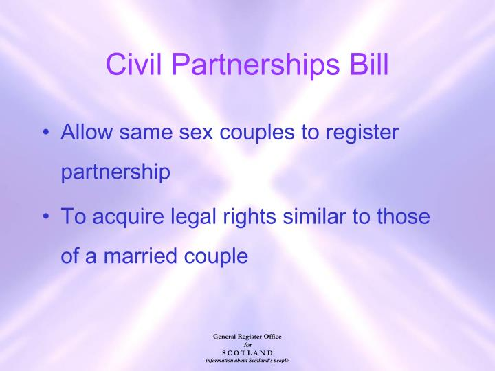 Civil Partnerships Bill