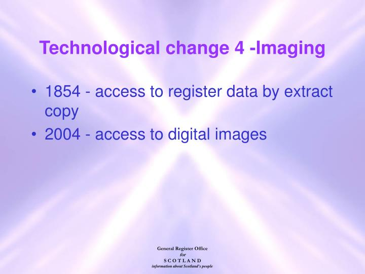 Technological change 4 -Imaging