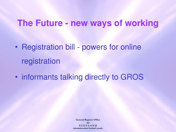 The Future - new ways of working