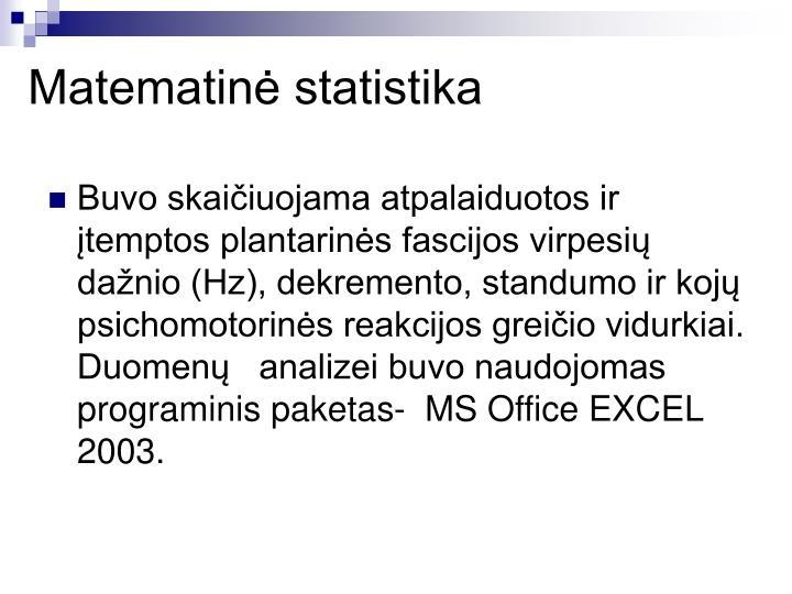 Matematin statistika