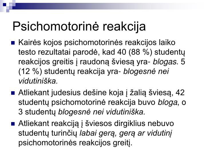 Psichomotorin reakcija