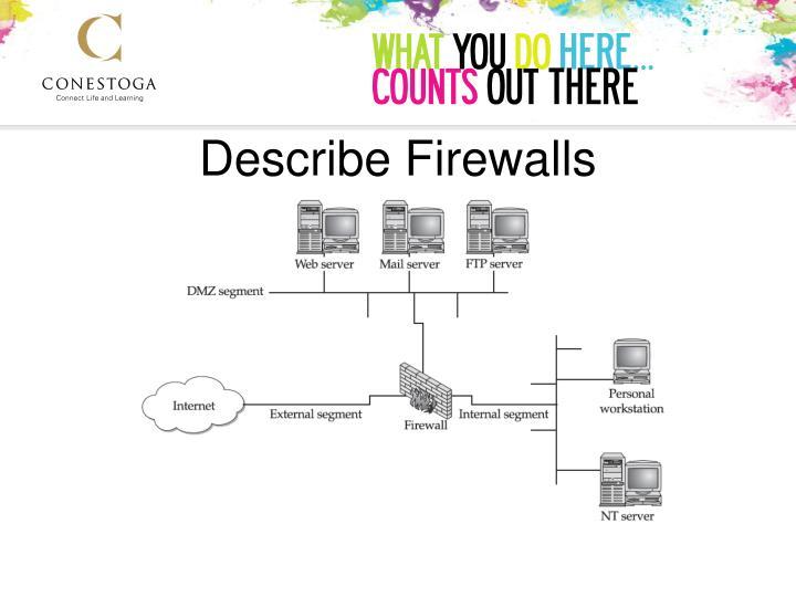 Describe Firewalls