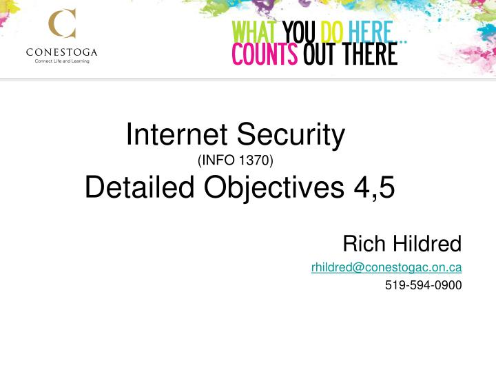 Internet security info 1370 detailed objectives 4 5