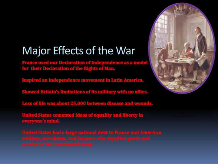 Major Effects of the War