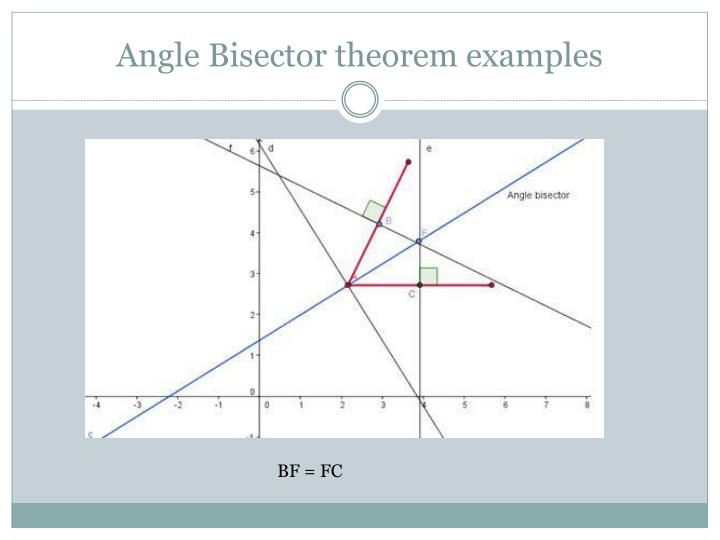 Angle Bisector theorem examples
