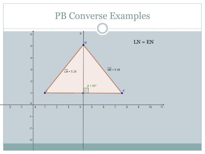 PB Converse Examples