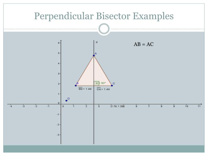 Perpendicular Bisector Examples
