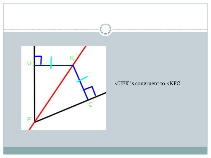 <UFK is congruent to <KFC