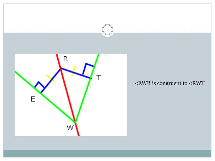 <EWR is congruent to <RWT