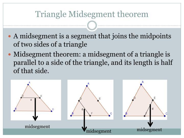 Triangle Midsegment theorem
