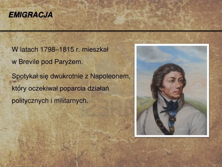 W latach 1798–1815