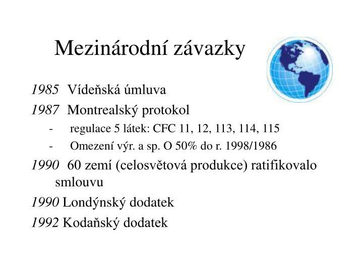 Mezinárodní závazky