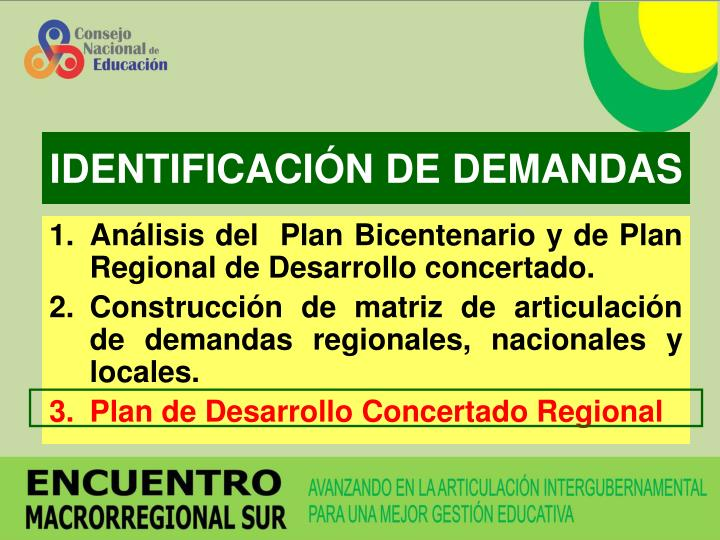 IDENTIFICACIÓN DE DEMANDAS