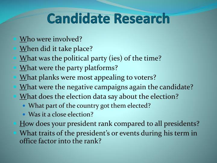 Candidate Research