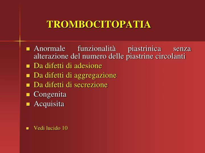 TROMBOCITOPATIA