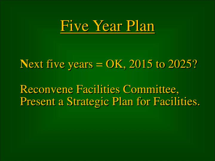 Five Year Plan