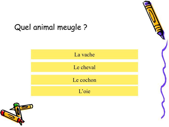 Quel animal meugle ?