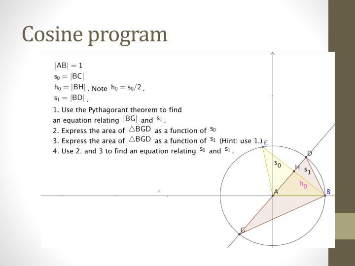 Cosine program