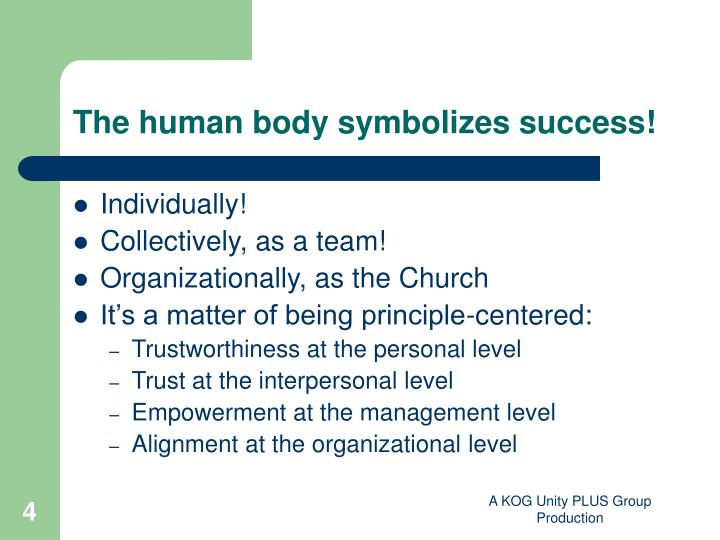 The human body symbolizes success!