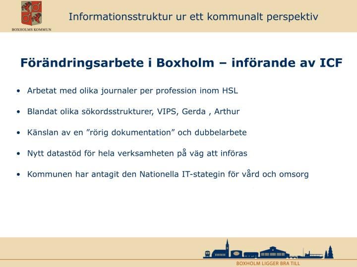 Informationsstruktur ur ett kommunalt perspektiv