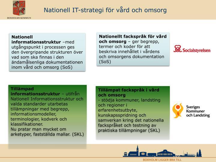 Nationell IT-strategi för vård och omsorg