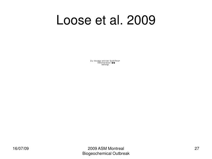 2009 ASM Montreal Biogeochemical Outbreak