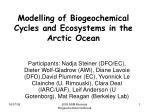 modelling of biogeochemical cycles and ecosystems in the arctic ocean