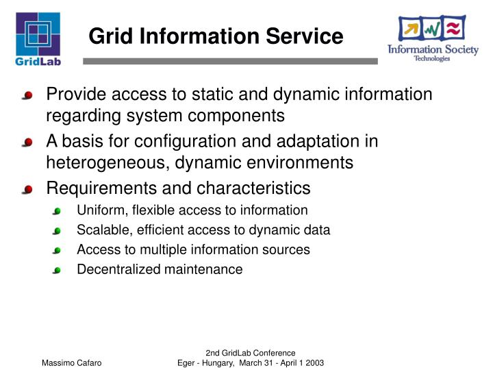 Grid Information Service