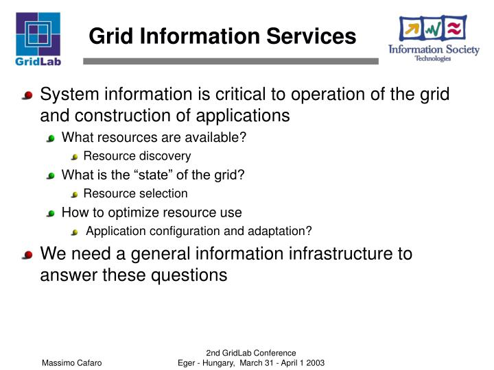 Grid information services