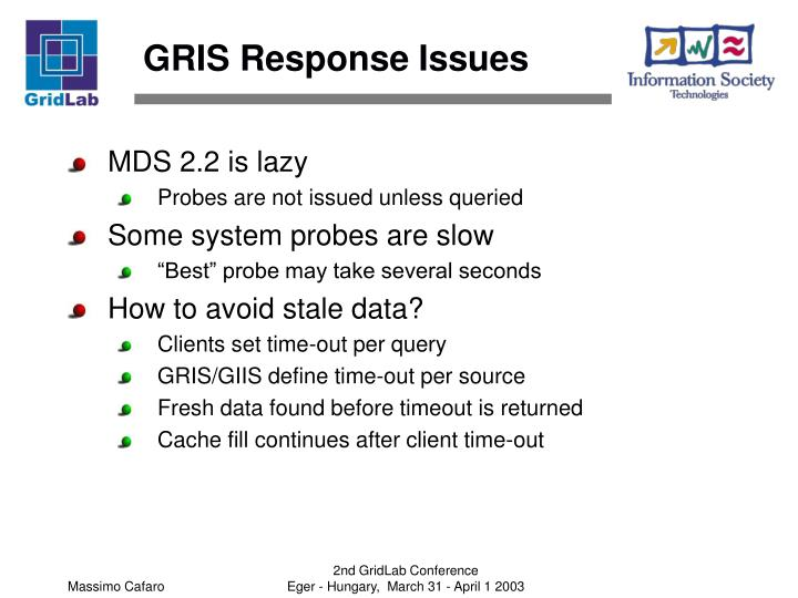 GRIS Response Issues