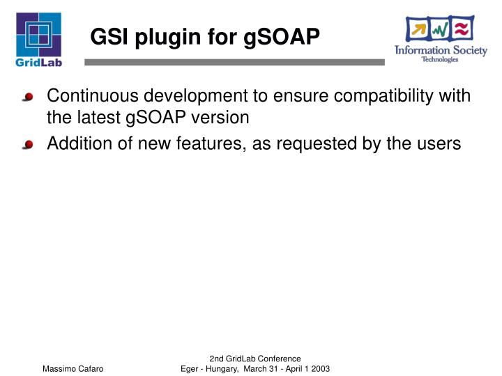 GSI plugin for gSOAP