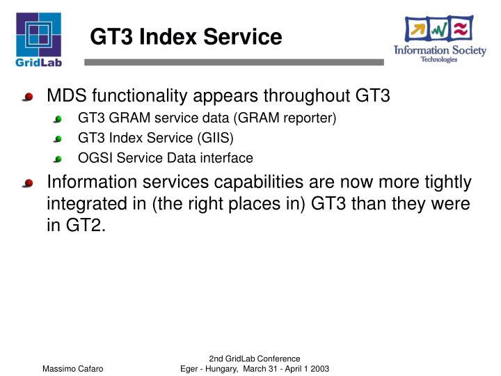 GT3 Index Service