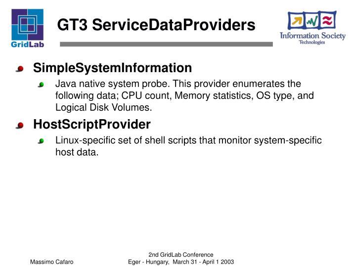 GT3 ServiceDataProviders