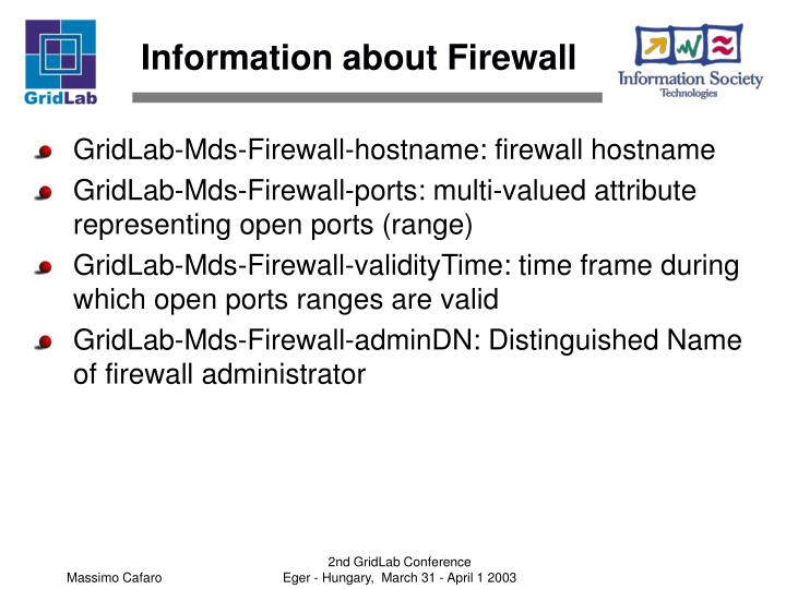 Information about Firewall