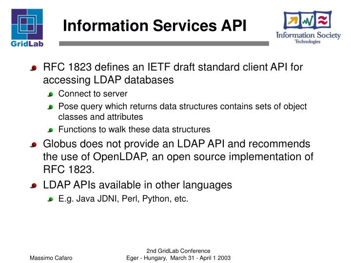 Information Services API
