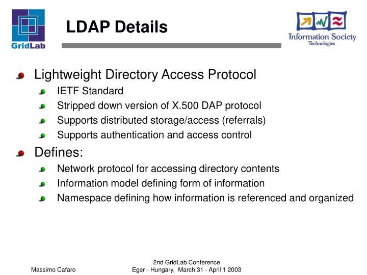 LDAP Details