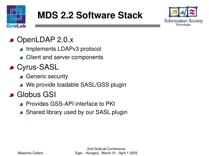 MDS 2.2 Software Stack
