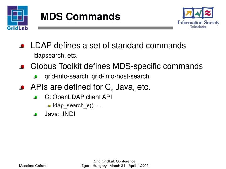 MDS Commands