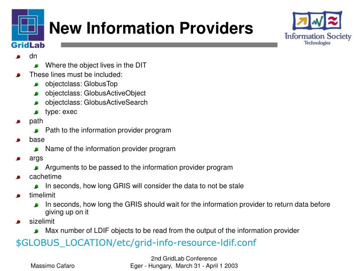 New Information Providers