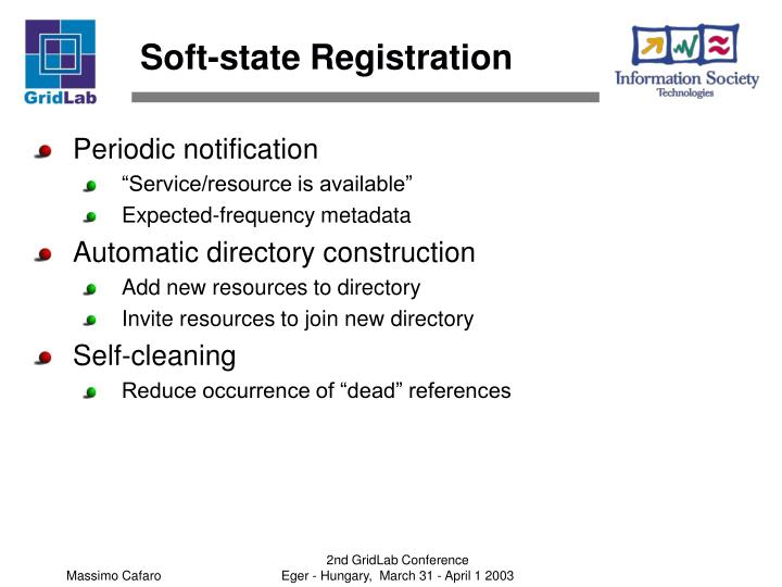 Soft-state Registration