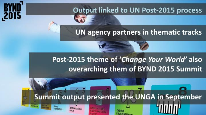 Output linked to UN Post-2015 process