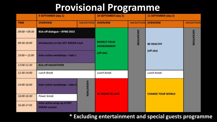 Provisional Programme