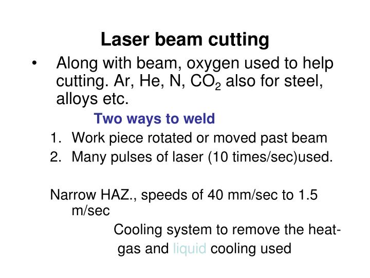 Laser beam cutting