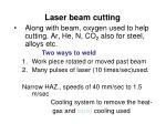 laser beam cutting