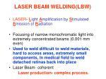 laser beam welding lbw