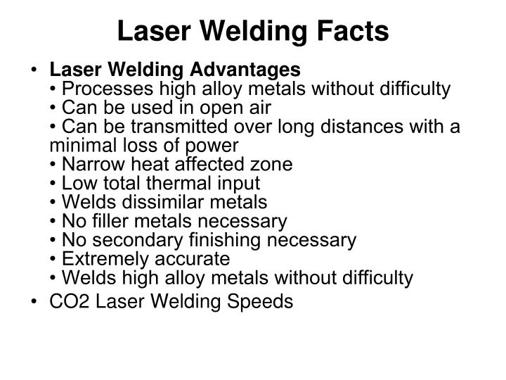 Laser Welding Facts